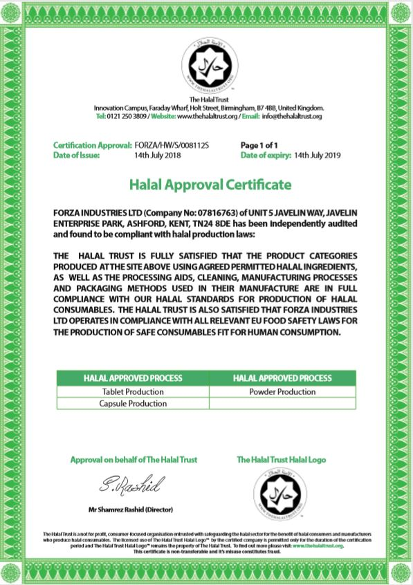 Halal Certified Supplement Manufacturer - Quality and Price