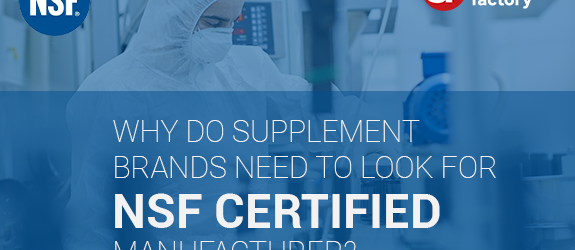 Supplement Factory is NSF Certified