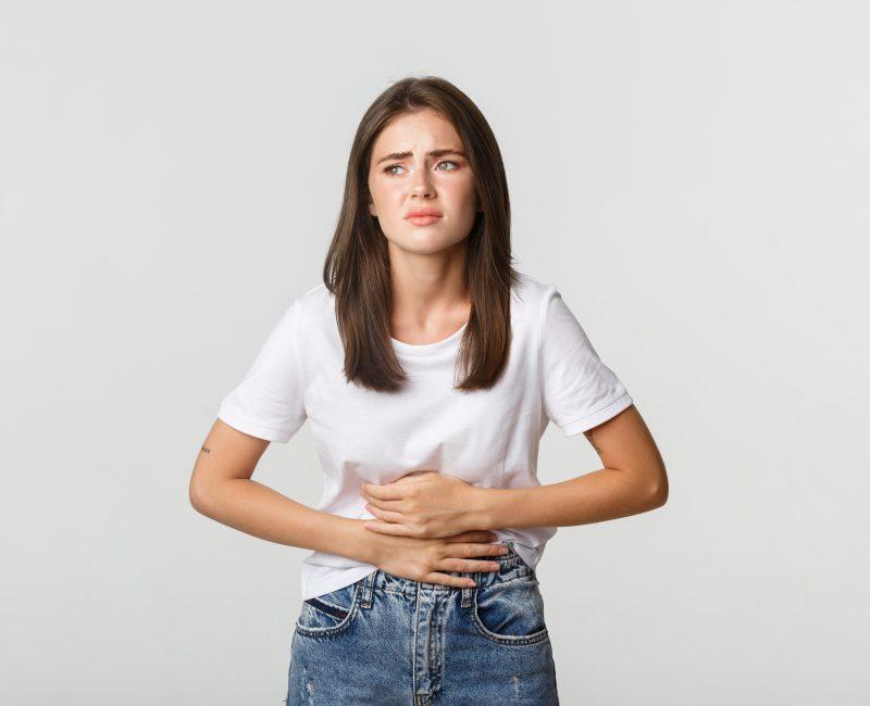 Woman having Gut Problem